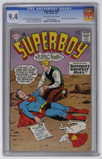 Superboy #106 (DC, 1963) CGC NM 9.4 Off-white to white pages. Curt Swan and George Papp art. Curt Swan and George Klein...
