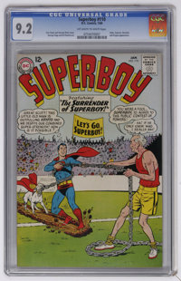Superboy #110 (DC, 1964) CGC NM- 9.2 Off-white to white pages. Curt Swan and George Klein cover. George Papp and Al Plas...