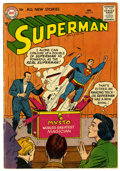 Silver Age (1956-1969):Superhero, Superman #111 (DC, 1957) Condition: VG+. Al Plastino cover and Ruben Moreira art. Overstreet 2006 VG 42.0 value = $76; FN 6....