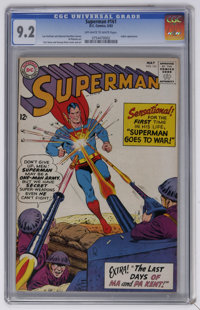 Superman #161 (DC, 1963) CGC NM- 9.2 Off-white to white pages. Deaths of Ma and Pa Kent (first telling). Curt Swan cover...