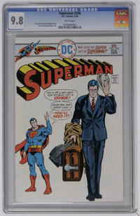 Superman #296 (DC) CGC NM/MT 9.8 White pages. Curt Swan and Bob Oksner art. This issue has the highest CGC grade to date...