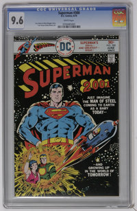 Superman #300 (DC) CGC NM+ 9.6 White pages. Superman in the year 2001 story. Curt Swan and Bob Oksner art. Overstreet 20...