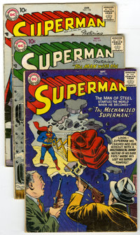 Superman Group (DC, 1957-58) Condition: Average GD+. Startling selection of Superman, including issues #113, 115, 116, 1...