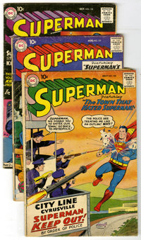 Superman #130-139 Group (DC, 1959-60) Condition: Average GD. Group of ten Superman books contains #130 (second appearanc...