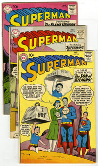 Superman #140-149 Group (DC, 1960-61) Condition: Average VG. This group of ten Superman books is comprised of #140 (firs...