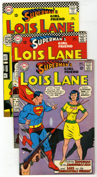 Superman's Girl Friend Lois Lane Group (DC, 1966-70) Condition: Average FN/VF. Nine comics in this group, including #63...