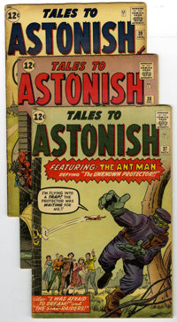 Tales to Astonish #37 - 40 Group (Marvel, 1962-63). The most astonishing hero in comics, Ant-Man, is featured in this gr...