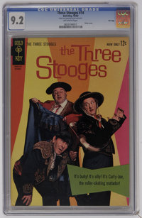 Three Stooges #14 File Copy (Gold Key, 1963) CGC NM- 9.2 Off-white pages. Photo cover. Overstreet 2006 NM- 9.2 value = $...