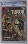 Silver Age (1956-1969):Adventure, Turok #12 File Copy (Dell, 1958) CGC VF 8.0 Off-white pages. Painted cover. Lee Elias art. Overstreet 2006 VF 8.0 value = $....