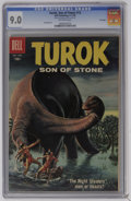 Silver Age (1956-1969):Adventure, Turok #13 File Copy (Dell, 1958) CGC VF/NM 9.0 Off-white pages. Ray Bailey art. Overstreet 2006 VF/NM 9.0 value = $125; NM- ...