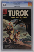 Silver Age (1956-1969):Adventure, Turok #14 File Copy (Dell, 1958) CGC VF 8.0 Off-white pages. Ray Bailey art. Overstreet 2006 VF 8.0 value = $79. CGC census ...