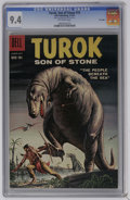 Silver Age (1956-1969):Adventure, Turok #15 File Copy (Dell, 1959) CGC NM 9.4 Off-white pages. Highest CGC grade for this issue. Overstreet 2006 NM- 9.2 value...