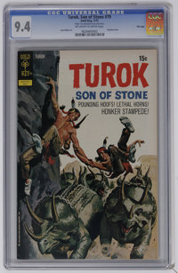 Turok #79 File Copy (Gold Key, 1972) CGC NM 9.4 Off-white to white pages. Painted cover. Jose Delbo art. Overstreet 2006...