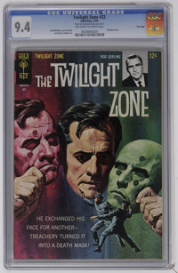 Twilight Zone #22 File Copy (Gold Key, 1967) CGC NM 9.4 Off-white to white pages. Painted cover. Al McWilliams, Joe Orla...