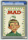 """Magazines:Mad, Mad #92 (EC, 1965) CGC NM- 9.2 Off-white pages. Christmas cover by Norman Mingo. Children's safety songs. """"Phony"""" magazine. ..."""