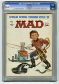 """Magazines:Mad, Mad #95 (EC, 1965) CGC VF 8.0 Off-white pages. """"Peyton Place"""" TVsatire. Mad gun-owners primer. Playboy bunny fold-in. Norma..."""