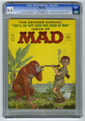 """Magazines:Mad, Mad #102 (EC, 1966) CGC NM 9.4 Off-white to white pages. Norman Mingo cover. """"National Enquirer"""" parody. """"Branded"""" and """"Wide..."""