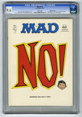 """Magazines:Mad, Mad #147 Gaines File pedigree (EC, 1971) CGC NM+ 9.6 White pages.""""Little Big Man"""" and """"All in the Family"""" parodies. Richard..."""