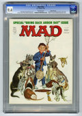 "Magazines:Mad, Mad #184 Gaines File pedigree (EC, 1976) CGC NM 9.4 Off-whitepages. ""One Flew Over The Cuckoo's Nest"" and ""Rhoda"" spoofs. B..."