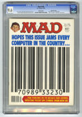 "Magazines:Mad, Mad #198 Gaines File pedigree (EC, 1978) CGC NM+ 9.6 White pages.UPC symbol cover and parody. ""Alice"" TV satire. ""The Deep""..."