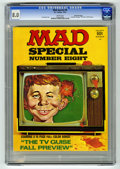 Bronze Age (1970-1979):Humor, Mad Special #8 Gaines File pedigree (EC, 1972) CGC VF 8.0 White pages. Includes 16-page color TV Guide parody. Overstreet 20...