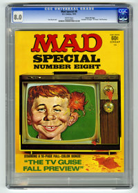 Mad Special #8 Gaines File pedigree (EC, 1972) CGC VF 8.0 White pages. Includes 16-page color TV Guide parody. Overstree...