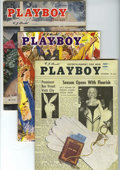 "Magazines:Miscellaneous, Playboy Group (HMH Publishing, 1955) Condition: Average FN/VF. Copies from the first two years of the ""Entertainment For Men... (Total: 3 Items)"