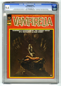 Vampirella #8 (Warren, 1970) CGC NM 9.4 Off-white to white pages. First time Vampirella appears as a serious character...