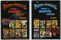 Photo-Journal Guide to Marvel Comic Books, The Two Volume Hardback Set (Gerber Publishing, 1991). Unused copies of the M...