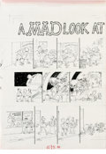 "Original Comic Art:Panel Pages, Sergio Aragones - Mad #277 Page Original Art, Group of 2 (EC, 1988). This set of two pages by Sergio Aragones for ""A Mad Loo... (Total: 2 Items)"