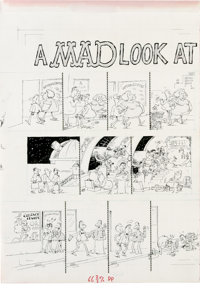 """Sergio Aragones - Mad #277 Page Original Art, Group of 2 (EC, 1988). This set of two pages by Sergio Aragones for """"..."""
