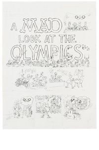 Sergio Aragones - Mad #314 Page Original Art, Group of 3 (EC, 1992). The world's greatest athletic event gets the Sergio...