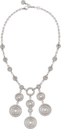 Estate Jewelry:Necklaces, Bvlgari Diamond, White Gold Necklace. ...