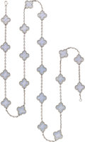 Estate Jewelry:Necklaces, Van Cleef & Arpels Agate, White Gold Necklace. ...