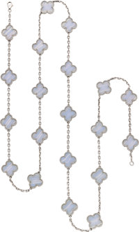 Van Cleef & Arpels Agate, White Gold Necklace