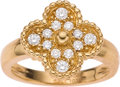 Estate Jewelry:Rings, Van Cleef & Arpels Diamond, Gold Ring. ...