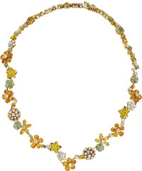 Van Cleef & Arpels Diamond, Sapphire, Gold Necklace