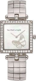 Estate Jewelry:Watches, Van Cleef & Arpels Diamond, Mother-of-Pearl, White Gold Watch. ...