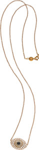 Estate Jewelry:Necklaces, Susan Foster Colored Diamond, Diamond, Pink Gold Necklace. ...