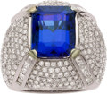 Estate Jewelry:Rings, Dyach Tanzanite, Diamond, White Gold Ring. ...