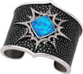 Estate Jewelry:Bracelets, Stephen Webster Diamond, Black Opal, Topaz, White Gold, StingrayBracelet. ...
