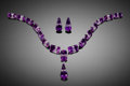 "Gems:Faceted, VERY FINE GEMSTONES: ""HOURGLASS"" BI-COLOR AMETHYST PARURE - 173.21TCW.. Artist: Ai Van Pham. Stone Source: Bou Oud...(Total: 18 Items)"