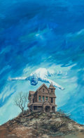 Mainstream Illustration, GERALD POWELL (American, 20th Century). The Ghost Hunters,paperback cover, 1978. Acrylic on board. 30 x 18.5 in.(image... (Total: 2 Items)