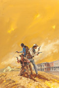 Mainstream Illustration, GERALD POWELL (American, 20th Century). A Man Made for Trouble,paperback cover, 1976. Acrylic on board. 30 x 20 in.. No...(Total: 2 Items)