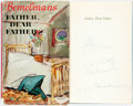 Books:Literature 1900-up, Ludwig Bemelmans. INSCRIBED WITH ORIGINAL DRAWING. Father, DearFather. London: Hamish Hamilton, [1953]. First Engli...