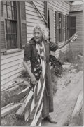 Photographs, HENRI CARTIER-BRESSON (French, 1908-2004). Woman with American Flag, New England, 1947. Gelatin silver, printed later. 1...