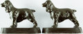 Books:Furniture & Accessories, [Bookends, Dogs]. Matching Pair of Alert Spaniels. Ca. 1950. Somemild rubbing to finish with a few small spots of color-mat...(Total: 2 Items)