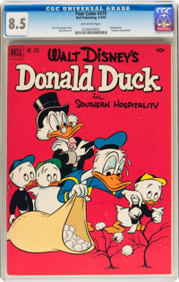 Four Color #379 Donald Duck (Dell, 1952) CGC VF+ 8.5 Off-white pages