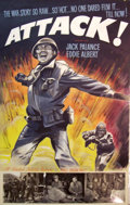 Mainstream Illustration, Lomasney, John J. (1899-1989). Attack!, 1956. Mixed media onartboard. 44 x 28 in.. Benefiting Lifebeat. ...