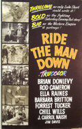 Mainstream Illustration, Lomasney, John J. (1899-1989). Ride the Man Down, 1952.Mixed media on artboard. 44 x 28 in.. Benefiting Lifebeat...